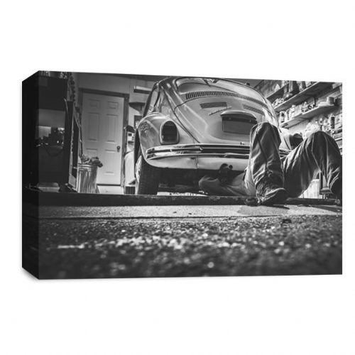 VW Beetle Canvas Wall Art Picture Repair Classic Car Print